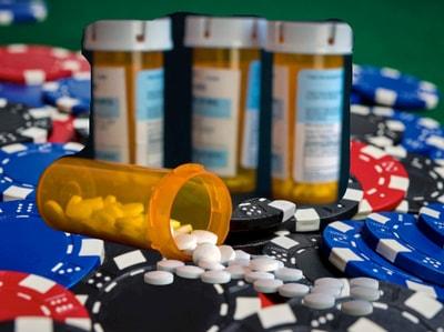 ادمان القمار وادمان المخدرات